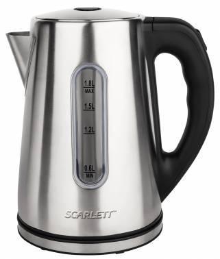 Чайник электрический Scarlett SC-EK21S21 серебристый, объём 1.8л, мощность 2200Вт, материал корпуса: нержавеющая сталь