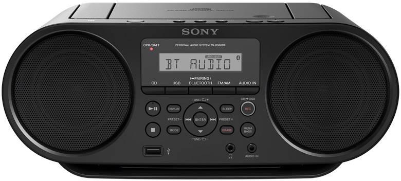 Магнитола Sony ZS-RS60BT черный - фото 1