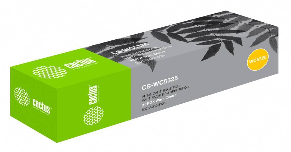 Тонер Картридж Cactus CS-WC5325 006R01160 черный - фото 1