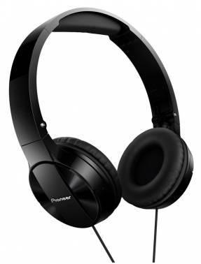 Наушники Pioneer SE-MJ503-K черный, мониторы, крепление оголовье, проводные, прямой коннектор, кабель 1.2м