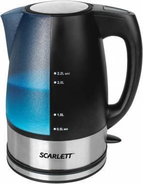 Чайник электрический Scarlett SC-EK18P18 голубой / черный