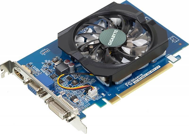Видеокарта Gigabyte GeForce GT 730 2048 МБ (GV-N730D3-2GI) - фото 1