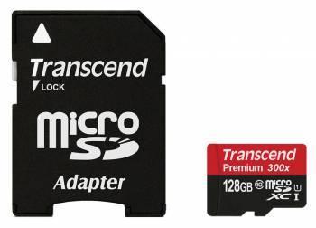 Карта памяти SDXC 128Gb Class10 Transcend