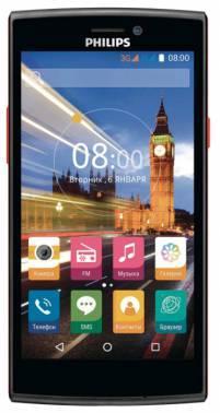 Смартфон Philips S337 черный, встроенная память 8Gb, дисплей 5 854x480, Android 5.1, камера 5Mpix, поддержка 3G, 2Sim, WiFi, BT, GPS, FM радио, microSDHC до 32Gb (867000132137)