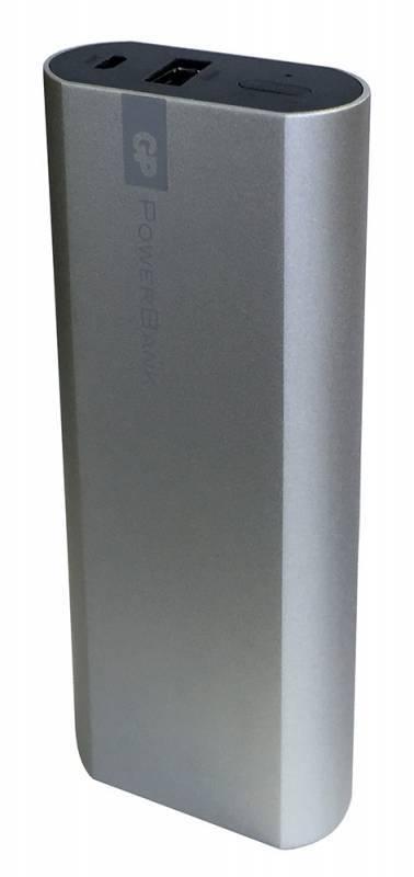 Мобильный аккумулятор GP Portable PowerBank FN05M серебристый (GPFN05MSE-2CRB1) - фото 1