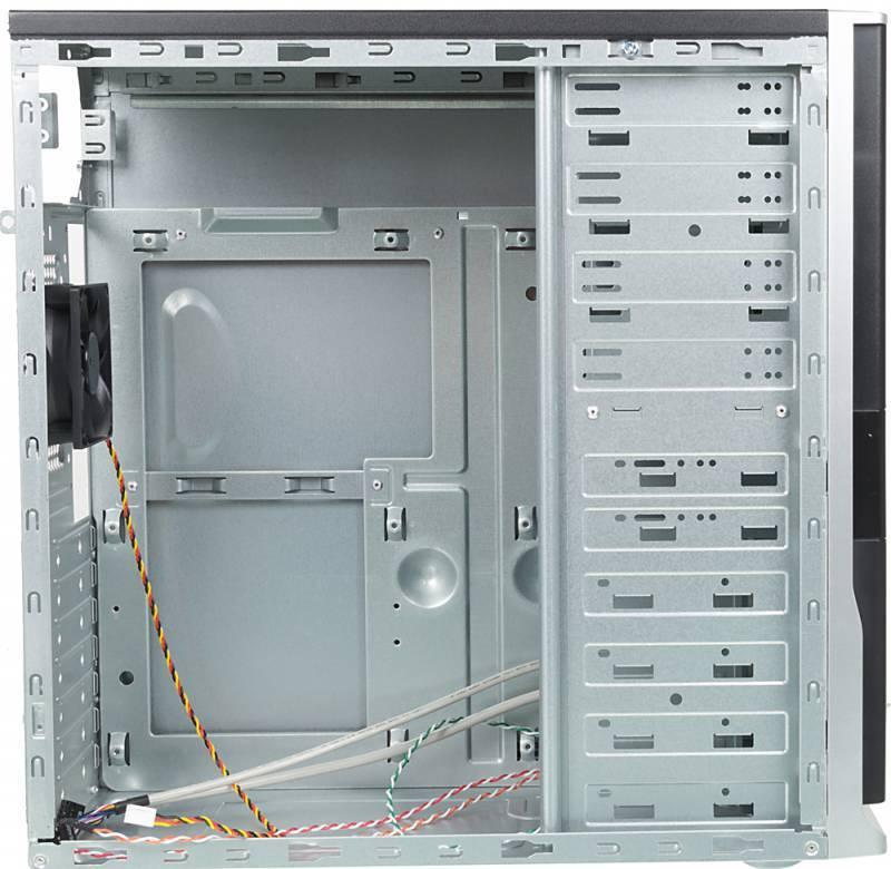 Корпус ATX Foxconn TSAA-424 черный/серебристый - фото 4