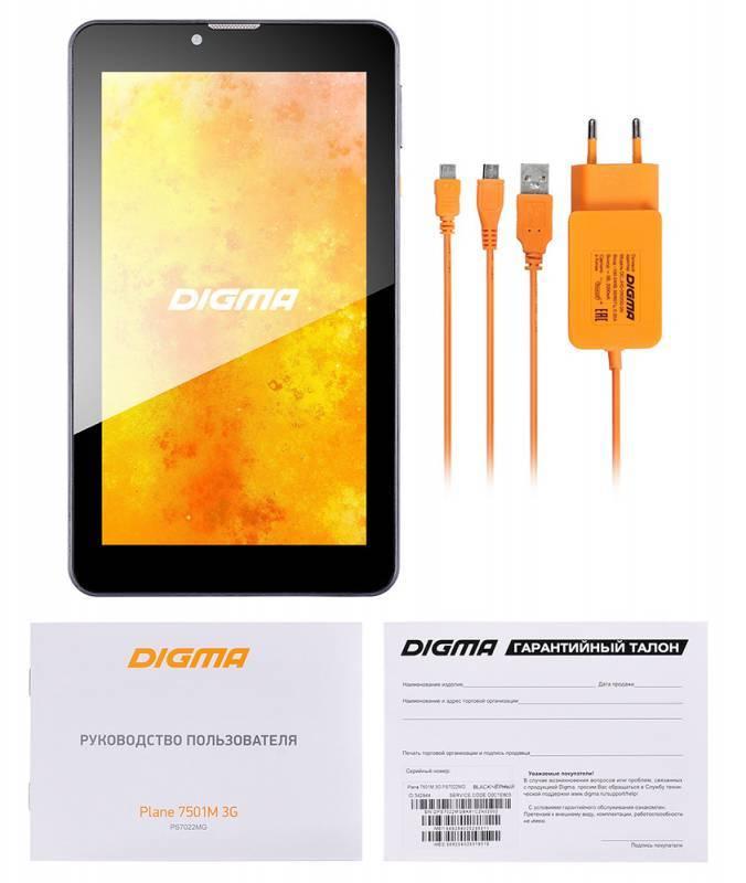 """Планшет 7"""" Digma Plane 7501M 3G 8ГБ черный - фото 7"""