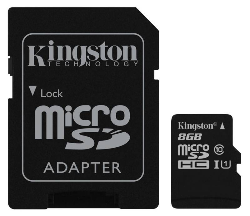 Карта памяти microSDHC 8Gb Class10 Kingston SDC10G2/8GB - фото 1