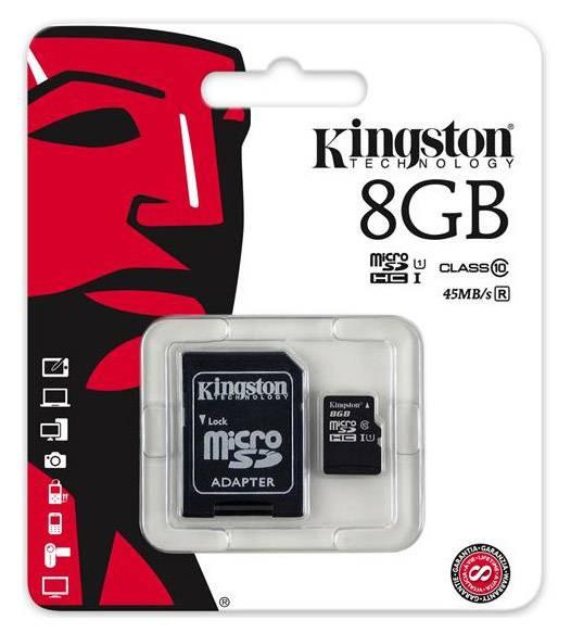 Карта памяти microSDHC 8Gb Class10 Kingston SDC10G2/8GB - фото 2