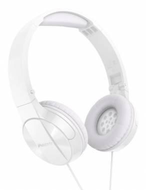 Наушники Pioneer SE-MJ503T-W белый, мониторы, крепление оголовье, проводные, кабель 1.2м