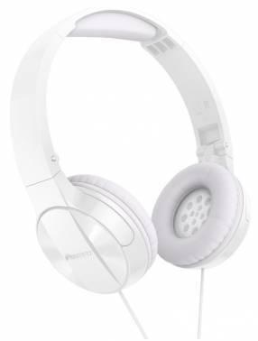 Наушники Pioneer SE-MJ503-W белый, мониторы, крепление оголовье, проводные, прямой коннектор, кабель 1.2м