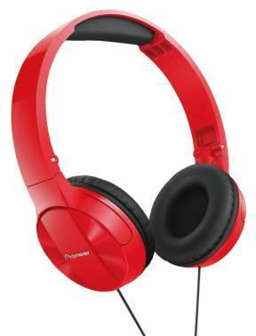 Наушники Pioneer SE-MJ503-R красный, мониторы, крепление оголовье, проводные, Г-образный коннектор, кабель 1.2м
