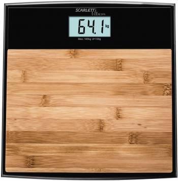 Весы напольные электронные Scarlett SC-BS33E064 бамбук / черный