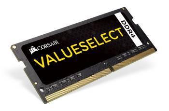 Модуль памяти Corsair CMSO4GX4M1A2133C15, объем 1 х 4Gb, форм-фактор SO-DIMM 260-pin, тип памяти DDR4, рабочая частота 2133MHz, тайминги 15-15-15-36, unbuffered