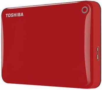 Внешний жесткий диск 3Tb Toshiba HDTC830ER3CA Canvio Connect II красный USB 3.0