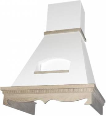 Каминная вытяжка Elikor Бельведер 60П-650-П3Г бежевый/дуб неокрашенный (КВ II М-650-60-130)
