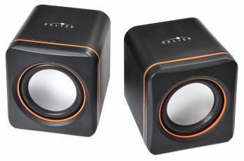Акустическая система 2.0 Oklick OK-301 черный / оранжевый