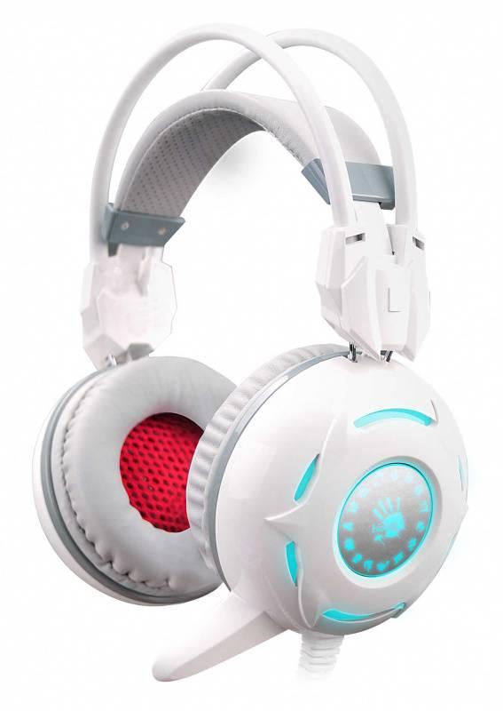 Наушники с микрофоном A4 Bloody G300 белый - фото 1