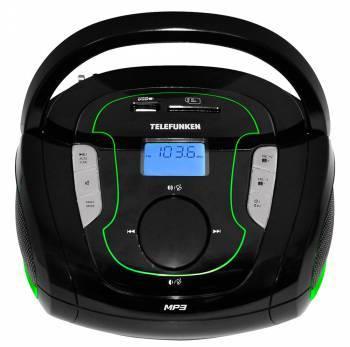 Магнитола Telefunken TF-SRP3471B черный / зеленый
