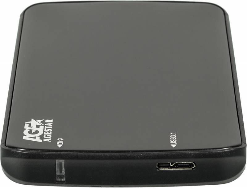 Внешний корпус для HDD/SSD AgeStar 31UB2A12 SATA черный - фото 3