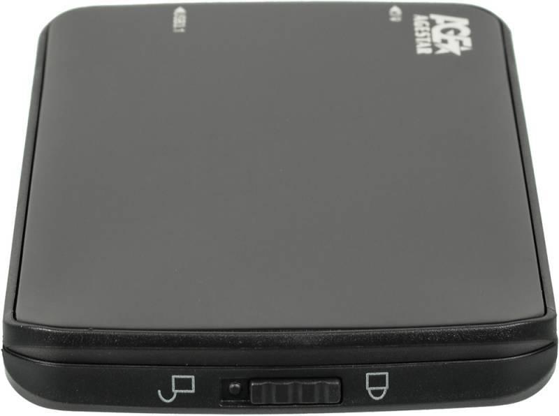 Внешний корпус для HDD/SSD AgeStar 31UB2A12 SATA черный - фото 4