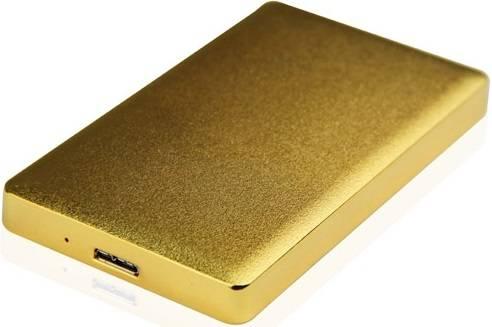 Внешний корпус для HDD/SSD AgeStar 31UB2A15 SATA золотистый - фото 1