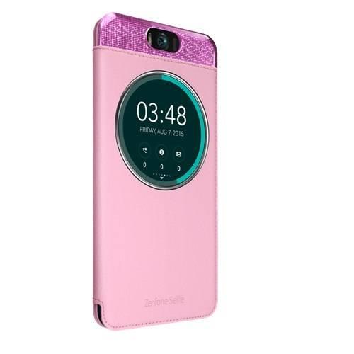 Чехол для смартфона ASUS MyView Cover Delux  Asus ZenFone Selfie ZD551KL полиуретан/поликарбонат розовый - фото 1