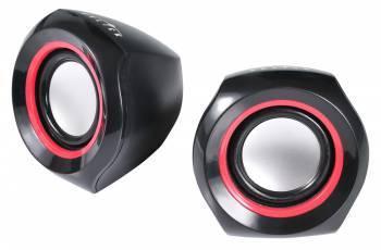 Колонки 2.0 Oklick OK-206 черный / красный