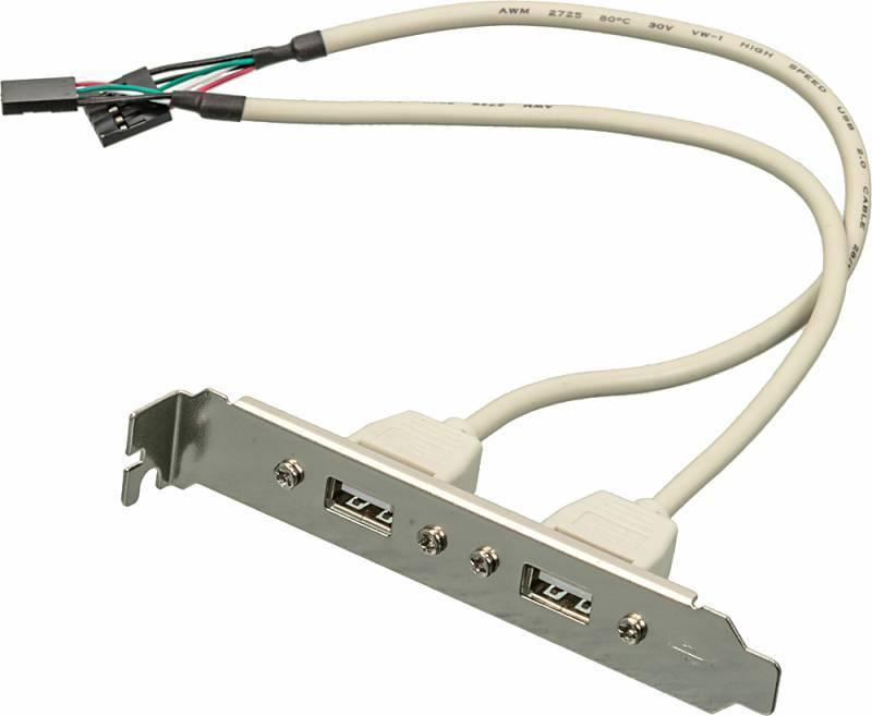 Адаптер USB Bracket, 2xUSB2.0, Bulk (ASIA BRACKET USB 2.0 2 PORT) - фото 1