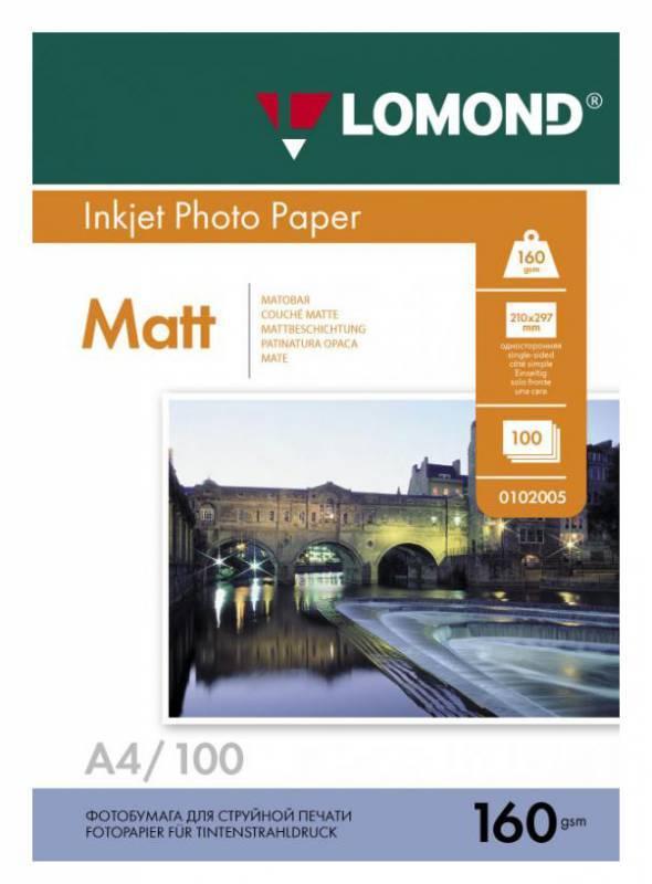 Фотобумага Lomond 0102005 A4/160г/м2/100л. белый - фото 1