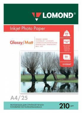 Фотобумага Lomond 0102047 A4 210г/м2 25л. белый