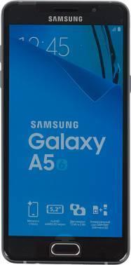 Смартфон Samsung SM-A510F Galaxy A5 (2016) черный, встроенная память 16Gb, дисплей 5.2 1920x1080, Android 5.1, камера 13Mpix, поддержка 3G, 4G, 2Sim, WiFi, BT, GPS, FM радио, microSD до 128Gb (SM-A510FZKDSER)