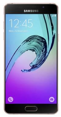 Смартфон Samsung SM-A510F Galaxy A5 (2016) розовый, встроенная память 16Gb, дисплей 5.2 1920x1080, Android 5.1, камера 13Mpix, поддержка 3G, 4G, 2Sim, WiFi, BT, GPS, FM радио, microSD до 128Gb (SM-A510FEDDSER)