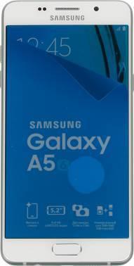 Смартфон Samsung SM-A510F Galaxy A5 (2016) белый, встроенная память 16Gb, дисплей 5.2 1920x1080, Android 5.1, камера 13Mpix, поддержка 3G, 4G, 2Sim, WiFi, BT, GPS, FM радио, microSD до 128Gb (SM-A510FZWDSER)