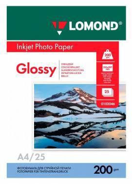 Фотобумага Lomond 0102046 A4 200г/м2 25л. белый