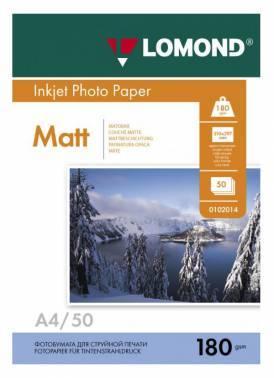 Фотобумага Lomond (0102014) A4 / 180г / м2 / 50л. белый