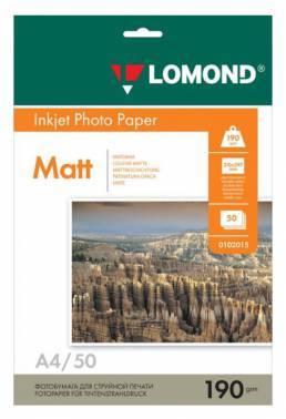 Фотобумага Lomond 0102015 A4 190г/м2 50л. белый