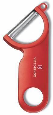 Нож кухонный Victorinox Potato Peeler (7.6073) для чистки овощей и фруктов красный карт.коробка