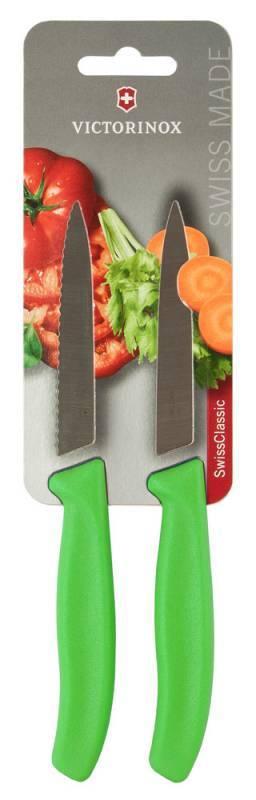 Набор кухонных ножей Victorinox Swiss Classic салатовый, в комплекте 2шт. (6.7796.L4B) - фото 1