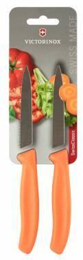 Набор кухонных ножей Victorinox Swiss Classic оранжевый, в комплекте 2шт. (6.7796.L9B)