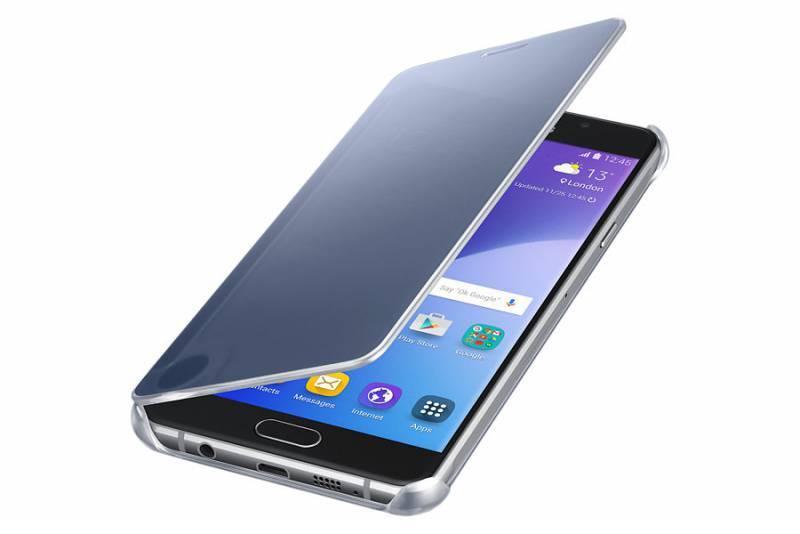 Чехол Samsung Clear View Cover, для Samsung Galaxy A7 (2016), синий (EF-ZA710CBEGRU) - фото 2