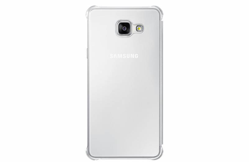 Чехол Samsung Clear View Cover, для Samsung Galaxy A7 (2016), серебристый (EF-ZA710CSEGRU) - фото 1