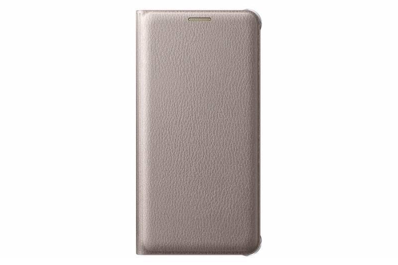 Чехол (клип-кейс) Samsung Flip Wallet золотистый - фото 3