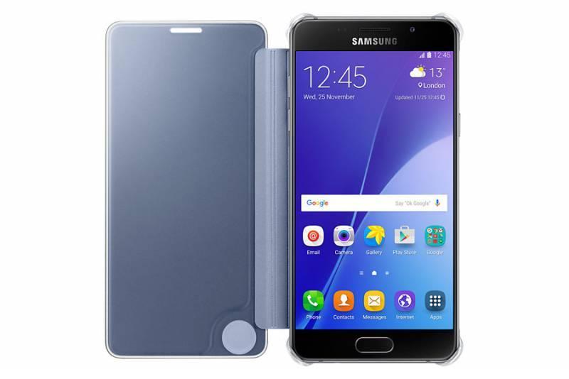 Чехол Samsung Clear View Cover, для Samsung Galaxy A5 (2016), темно-синий/прозрачный (EF-ZA510CBEGRU) - фото 2