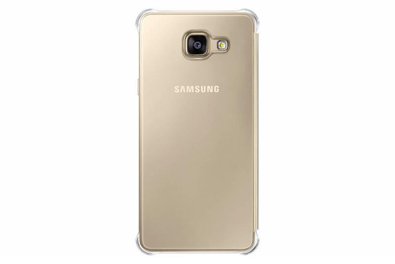 Чехол (клип-кейс) Samsung Clear View Cover золотистый - фото 1