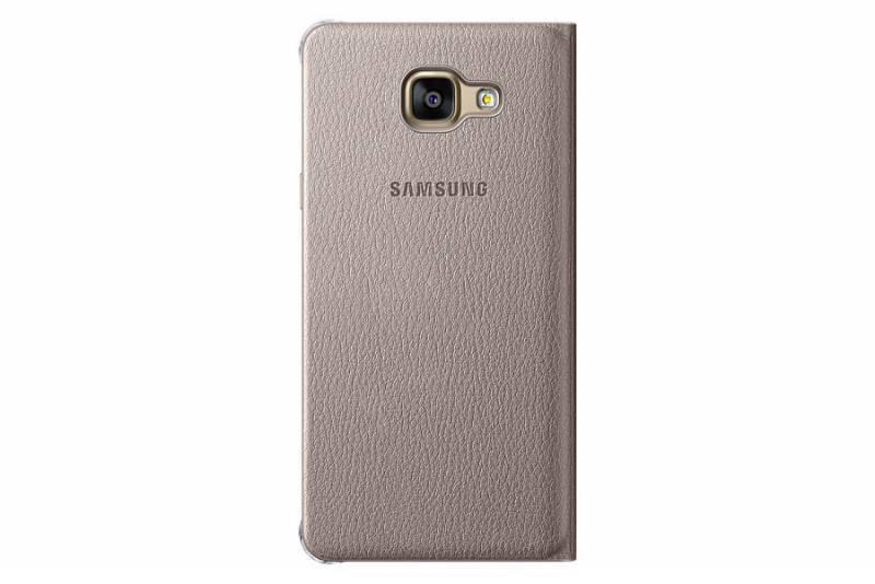 Чехол (флип-кейс) Samsung Flip Wallet золотистый - фото 1