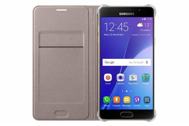 Чехол (флип-кейс) Samsung Flip Wallet золотистый - фото 2