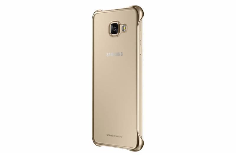Чехол (клип-кейс) Samsung Clear Cover золотистый/прозрачный - фото 1