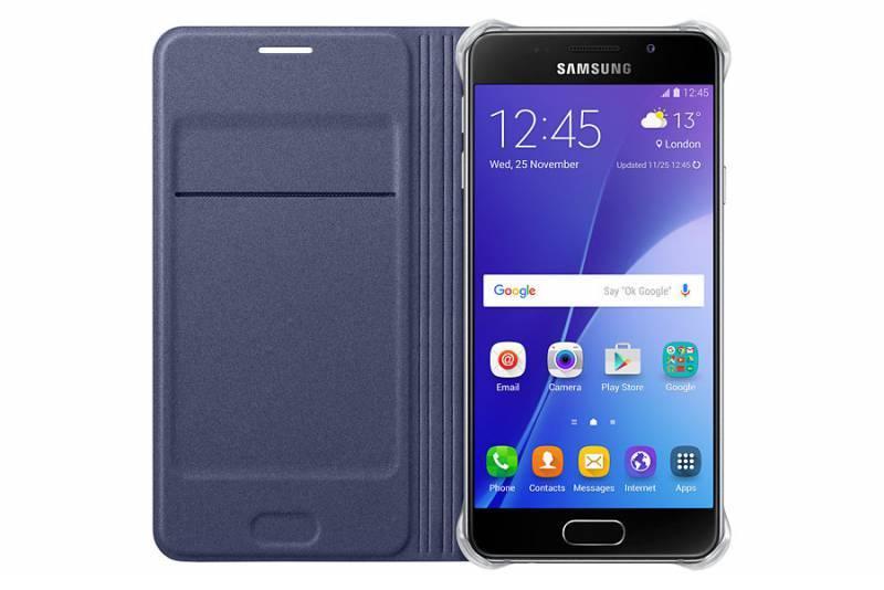 Чехол Samsung Flip Wallet, для Samsung Galaxy A3 (2016), черный (EF-WA310PBEGRU) - фото 2