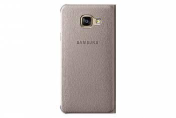 Чехол Samsung Flip Wallet, для Samsung Galaxy A3 (2016), золотистый (EF-WA310PFEGRU)